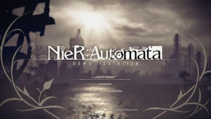 NieR:Automataの体験版スタート!2Bかわいい!PS4のアクションゲームだよ!